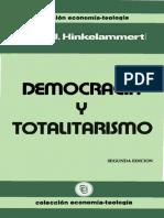Hinkelammert - Democracia y totalitarismo