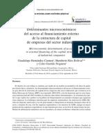 Determinantes de La Estructura de Capital