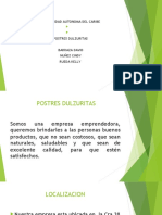 Empresa Postres Dulzuritas