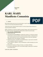 KARL MARX Manifiesto Comunista