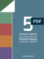 eBook 5 Atitudes Simples Que Aumentam Sua Produtividade Logo Pela Manhã