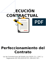 Ejecución contractual - Ley de Contrataciones