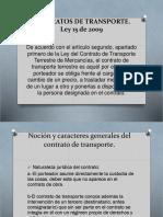 Contratos de Transporte ley 15