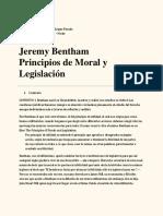 Jeremy Bentham Utilitarismo