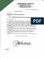 Oficio Bodas de Cana Restructuracion de c.a.