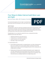 HI Four Ways to Make Internal Audit More Lean and Agile