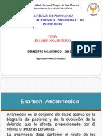 Examen  Anamnésico 2018