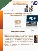 Resoluciones de problemas calculo de timpos de semaforo