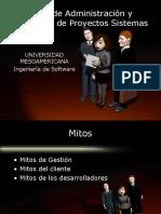 Mitos de Administración y Desarrollo de Proyectos Sistemas