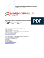 Haemophilia Wales + Cross Party Group Joint Position Paper (March 14th 2018)