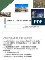 Geografía Tema 3 Las Ciudades