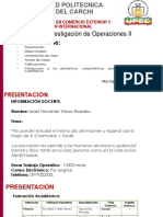 Clase Inicial Investigación Operativa II