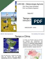 Aula2 2012 Tempo e Clima