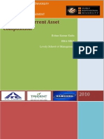Financial Analysis of Current Asset Composition of ITC, Trident & Samsung-Scribd