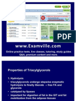 Properties of Triacylglycerols