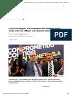 Francisco Rodríguez, El Economista de Wall Street Que Quiere Ayudar a Derrotar a Maduro y Que Propone Dolarizar Venezuela - BBC Mundo