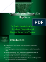Anestesia en Reseccion Hepatica