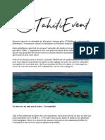Tahitievent -  Agenda numérique bonnes adresses et évènements en Polynésie Française