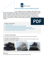 CBI - Centre for the Promotion of Imports From Developing Countries - What Are the Opportunities for Leather on the European Footwear Market- - 2016-12-12