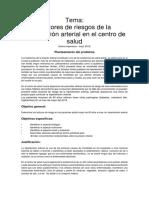 Tema....Factjores de Riesgo de La Hiperyencion Arterial