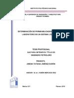 Determinación de Permeabilidad Relativas en Laboratorio en Un Sistema Liquido-liquido