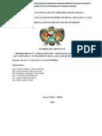 """MEJORAMIENTO Y AMPLIACIÓN DEL  SISTEMA DE ABASTECIMIENTO DE AGUA POTABLE Y SANEAMIENTO DE LA LOCALIDAD DE UTURUNCUPAMPA."""".docx"""