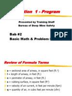 Bab #2 Basic Vent Math