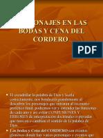Los Personajes en Las Cena y Boda Del Cordero_part1