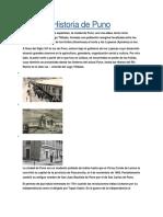 Historia de Puno Peru
