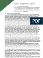La Estructura Administrativa Europea