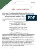 Desempleo - Causas y Soluciones