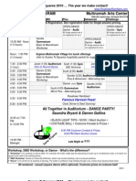 Pocket Schedule 2010