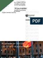 Triptico XII Jornadas de Osatzen