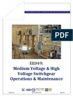 GUIDE ONLY Medium Voltage High Voltage Switchgear Operations Maintenance