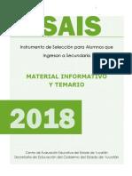 Material Informativo y Temario ISAIS 2018