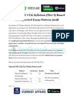 Detailed SSC CGL Syllabus Tier I Based on Expected Exam Pattern 2018