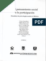 Los Trazos de Lo Emergente Juvenil Urbano - Del Pensamiento Social a La Participacion. Estudios de Psicologia Social en Mexico - 2004