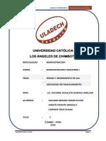 El concepto  de que el rendimmental para la administración y las finanzas.docx