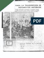 AGN - Normas Para La Transcripción de Documentos Históricos