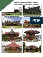 34 Gambar Rumah Adat Di Indonesia Berserta Namanya