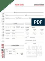 Ficha Medica Preparticipacion Deportiva