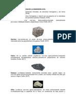 Rocas Que Se Utilizan en La Ingeniería Civil