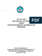 Evaluasi Pelaks KTSP_2008