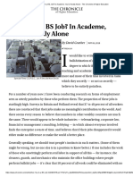 Are You in a BS Job_ in Academe, You'Re Hardly Alone - The Chronicle of Higher Education
