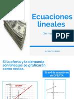 Ecuaciones Lineales de Mercado