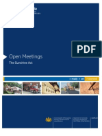 Open Meetings - The Sunshine Act