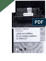 Qué tan público es el espacio público en México