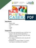 Receta Plastilina