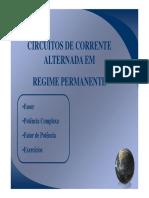 Circuitos CA Regime Permanente