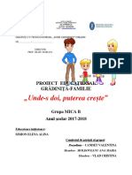 Parteneriat Gradinitafamile Grupa Mica